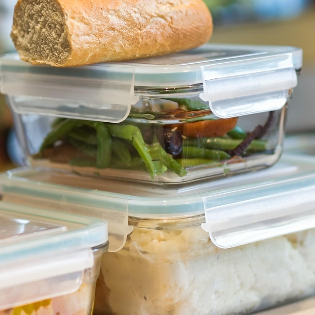 leftovers in reusable containers