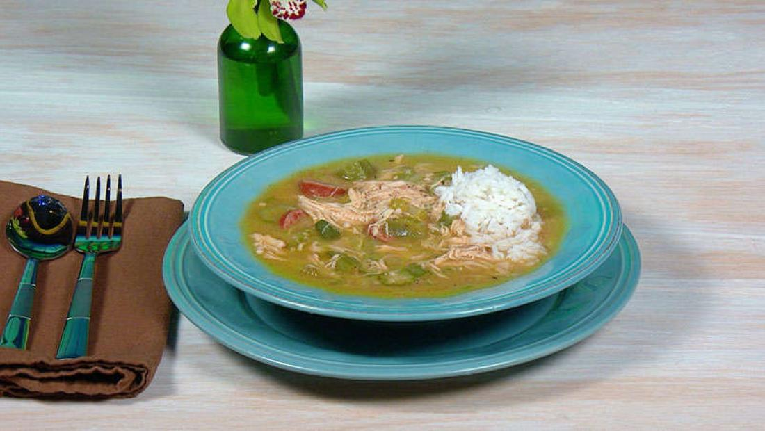 Eric And Jessie Deckers Chicken And Sausage Gumbo Rachael Ray Show