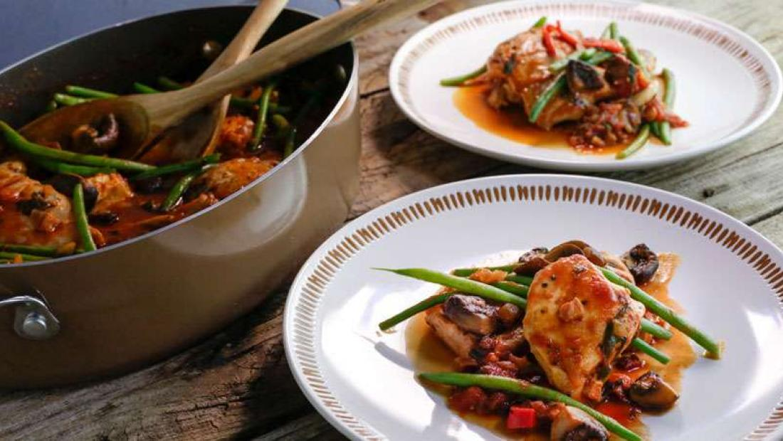 Cacciatore Style Boneless Chicken One Pot With Green Beans Rachael