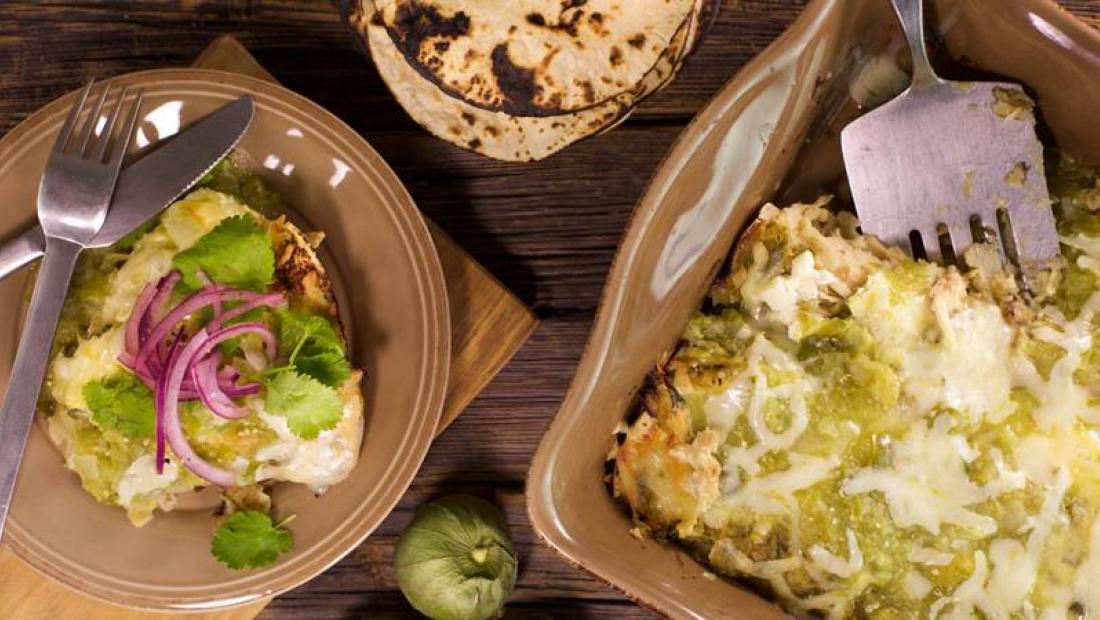 Rotisserie Chicken Enchiladas Verdes Rachael Ray Show