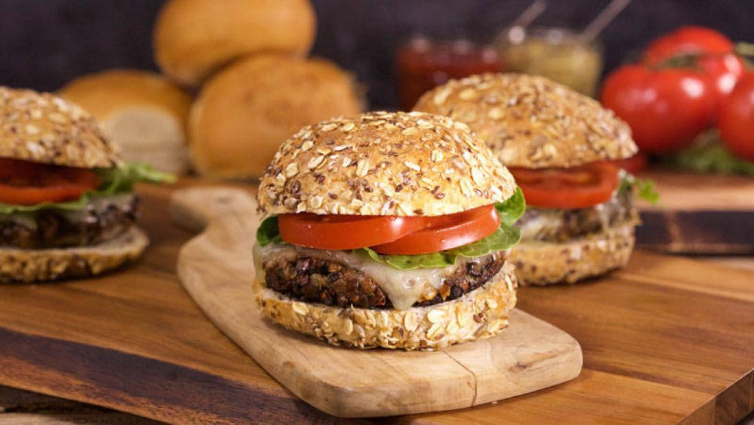 Maria Menounos Portobello Mushroom Burger With Melted Gruyere On A Multigrain Bun Rachael Ray Show