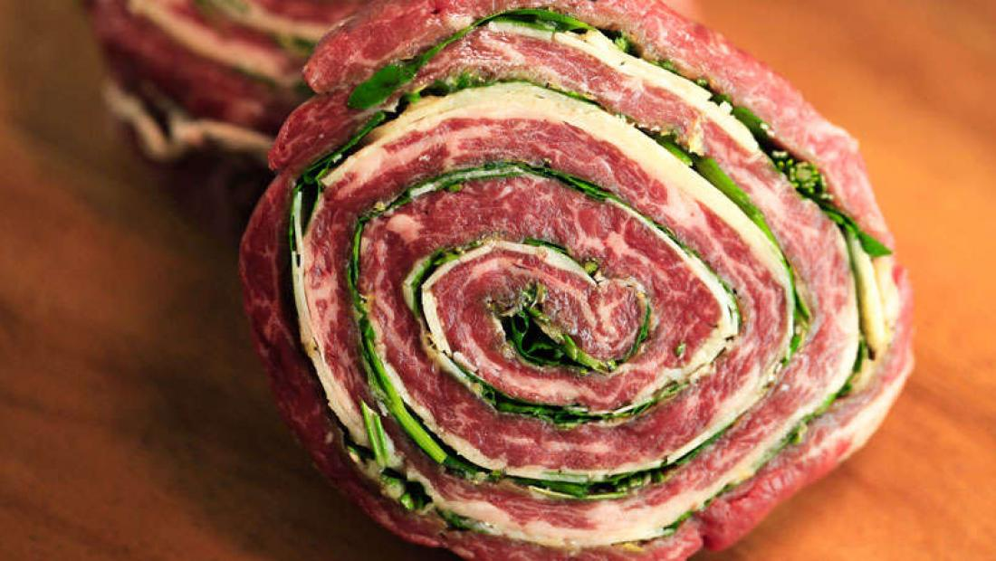 How long to grill flank steak pinwheels