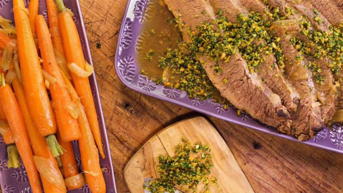 Braised brisket with almond gremolata rachael ray show
