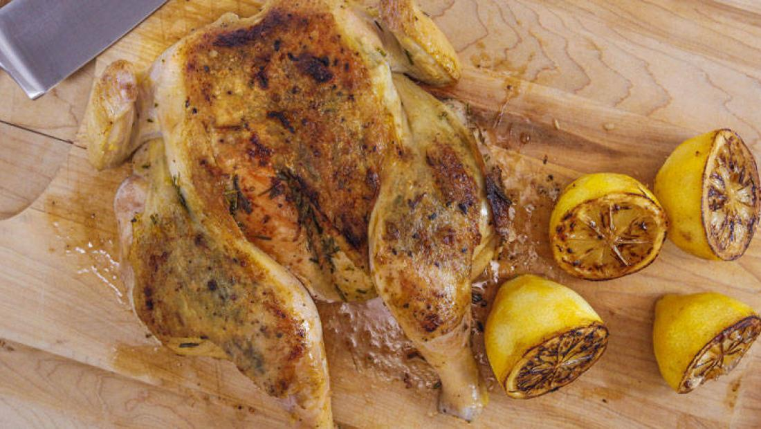 Rosemary Garlic Chicken Under A Brick Rachael Ray Show