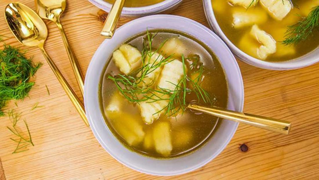 Missy Robbins En Soup With Ricotta Dumplings