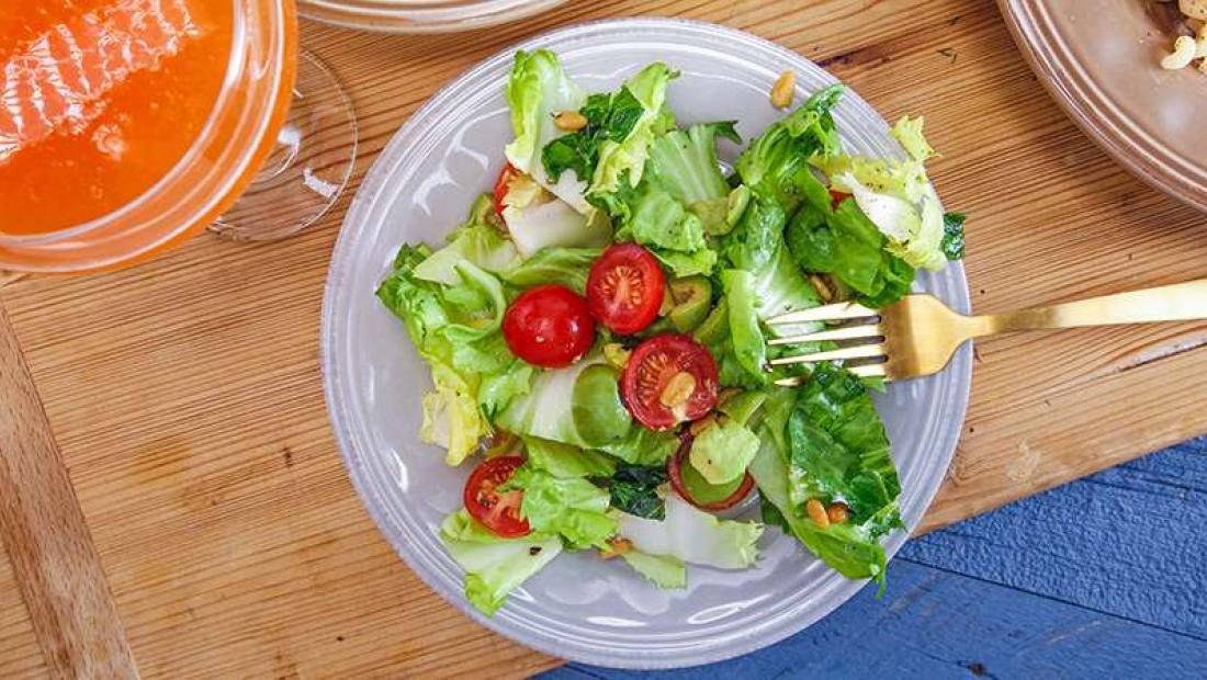 Giada De Laurentiis Tomato Avocado And Escarole Salad Rachael Ray Show