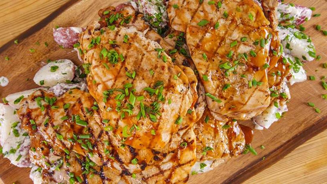 Emeril Lagasse S Grilled Pork Cutlets With Homemade Bbq Sauce And
