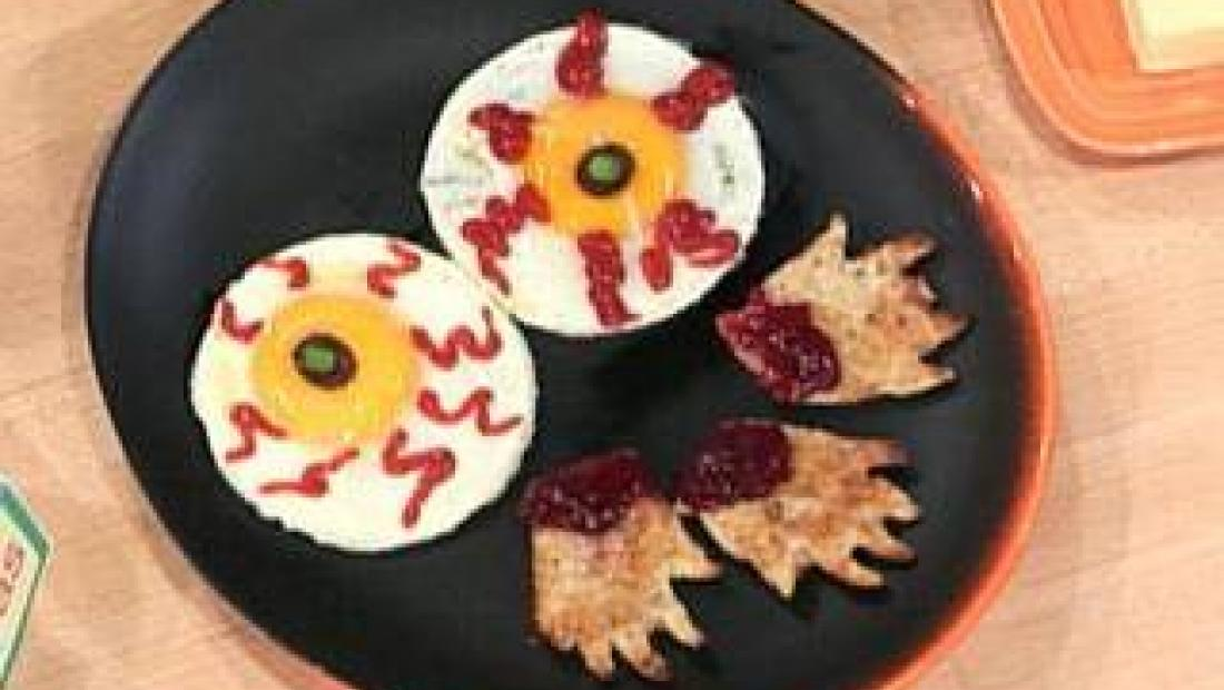 Halloween Treats: Egg Eyes | Rachael Ray Show