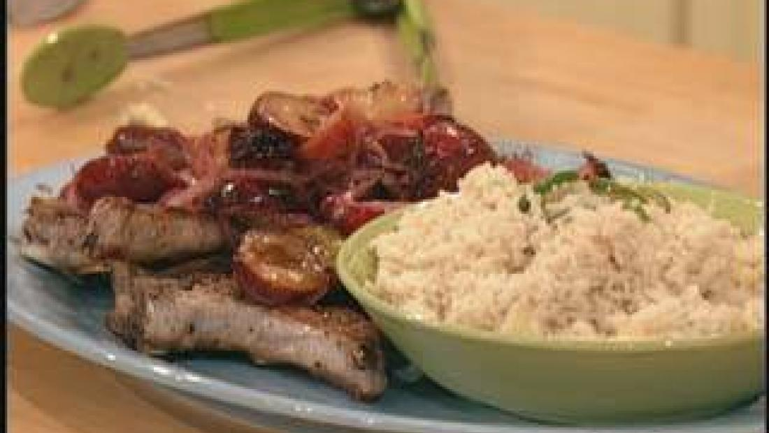 Plum Good Pork Chops Rachael Ray Show