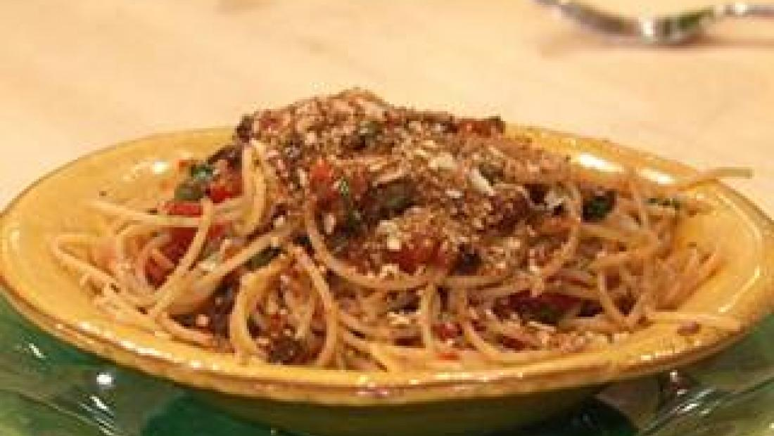Sicilian Puttanesca With Almond Breadcrumbs Rachael Ray Show