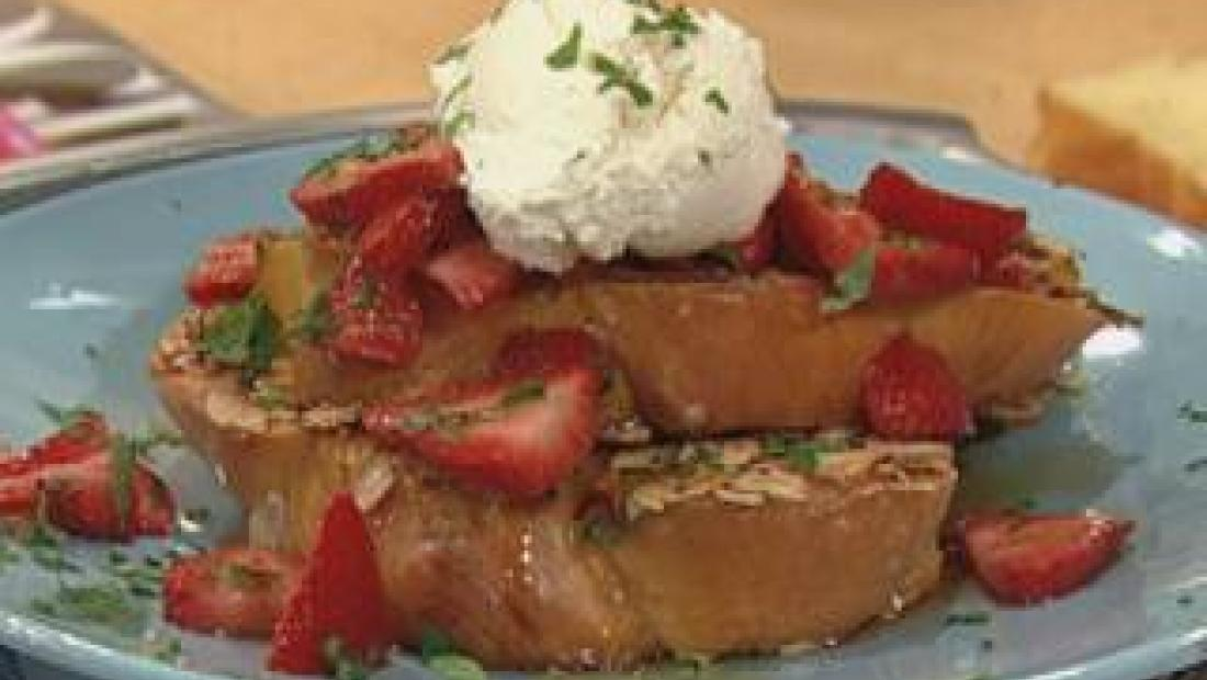 Fancy almond crusted french toast rachael ray show