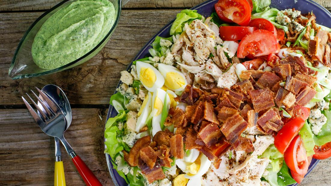 Rachael's Rotisserie Chicken Cobb Salad with Avocado Ranch Dressing