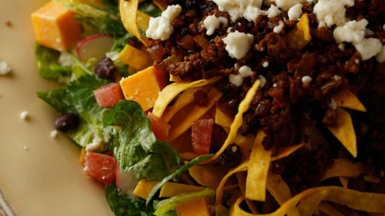 Guy Fieri S Warm Taco Salad With Spicy Smoky Ranch
