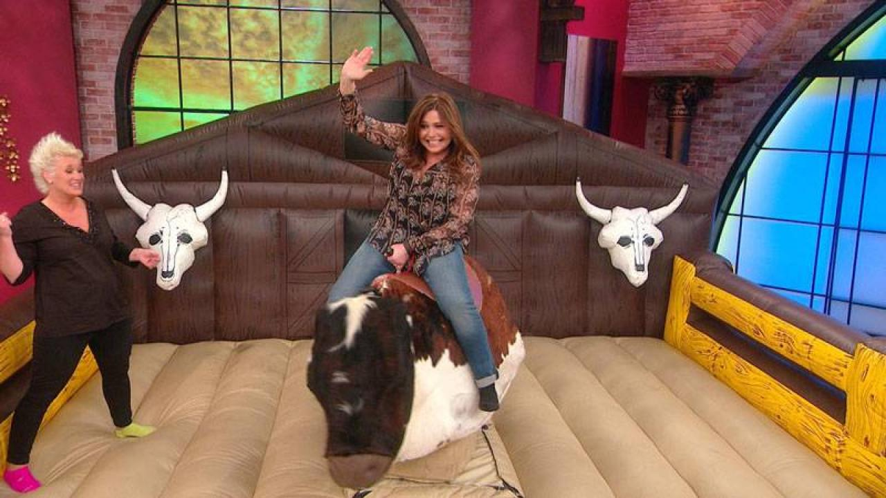Why Is Rachael Ray Riding A Mechanical Bull And Can She