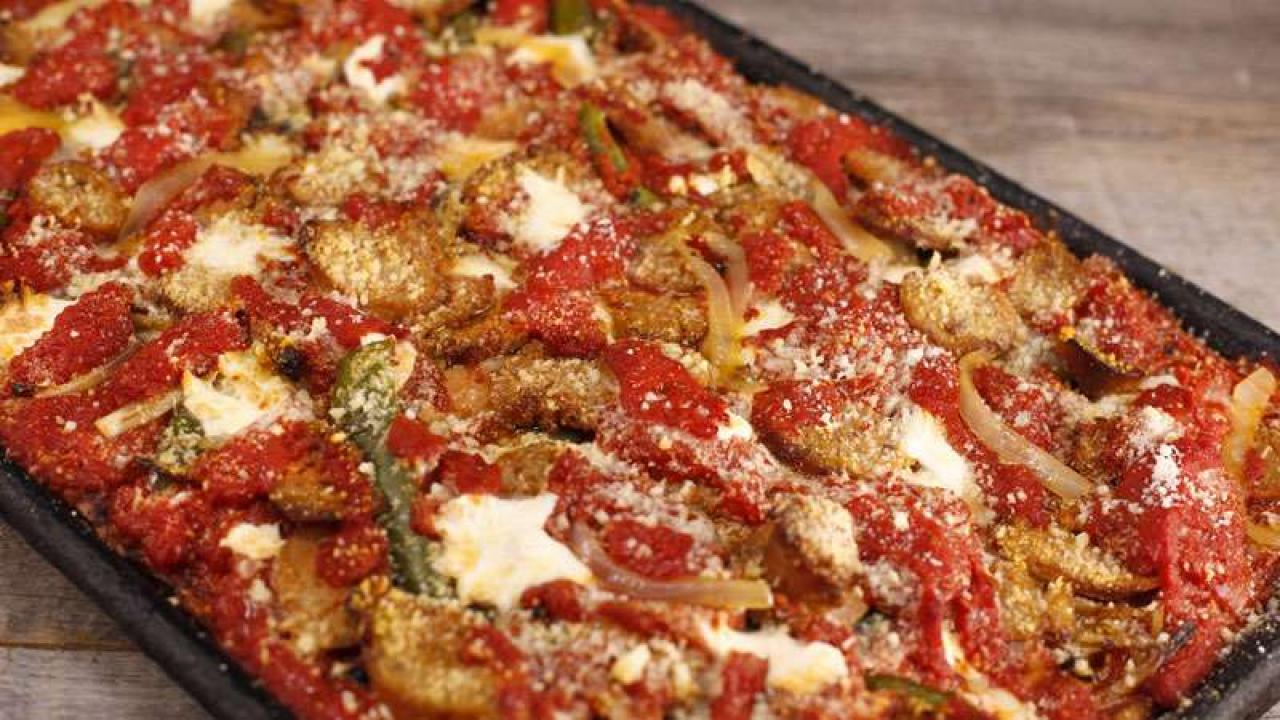 Pizza Cousins Sicilian Pizza With Italian Hot Sausage
