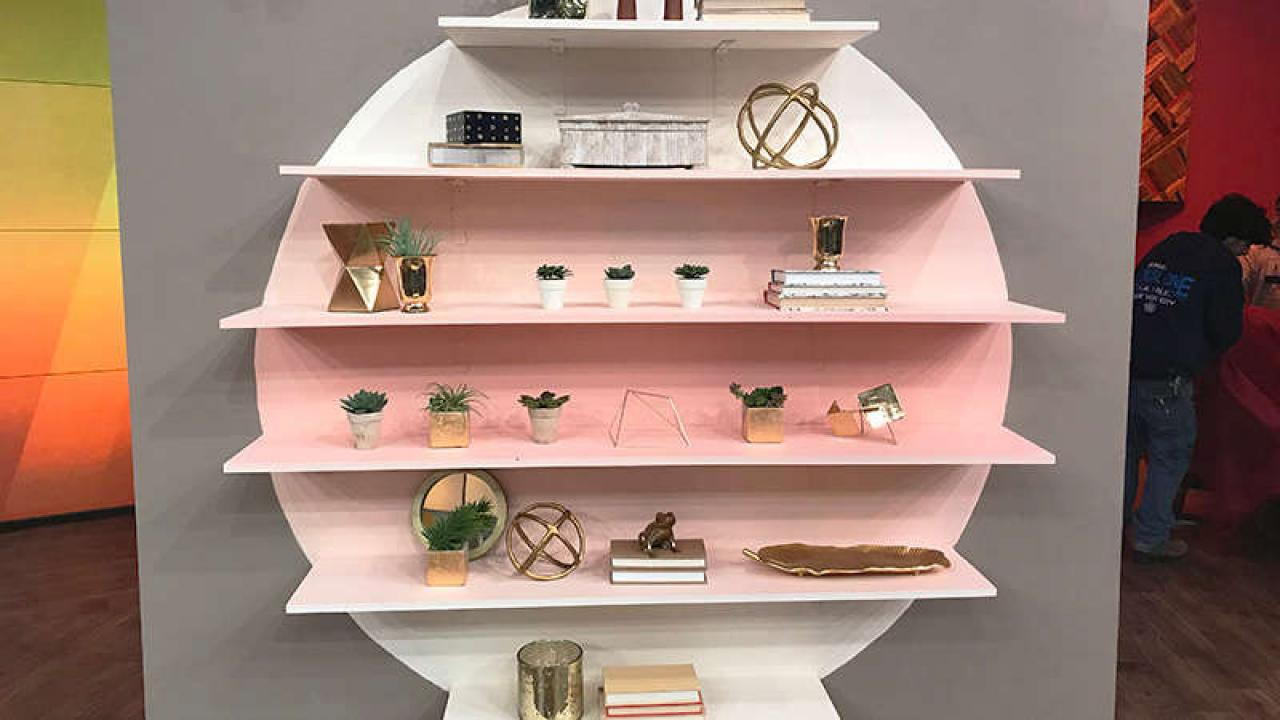 diy expensive looking blush ombre floating shelf wall for 50