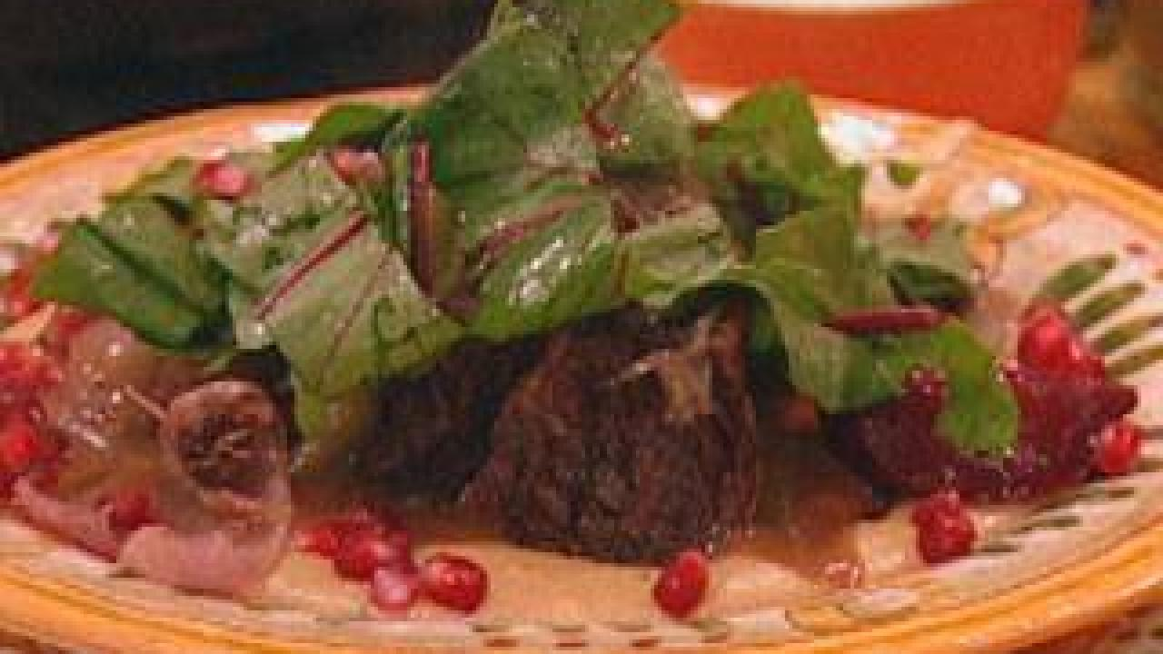 Braised Short Ribs With Roasted Beets And Creamy Polenta