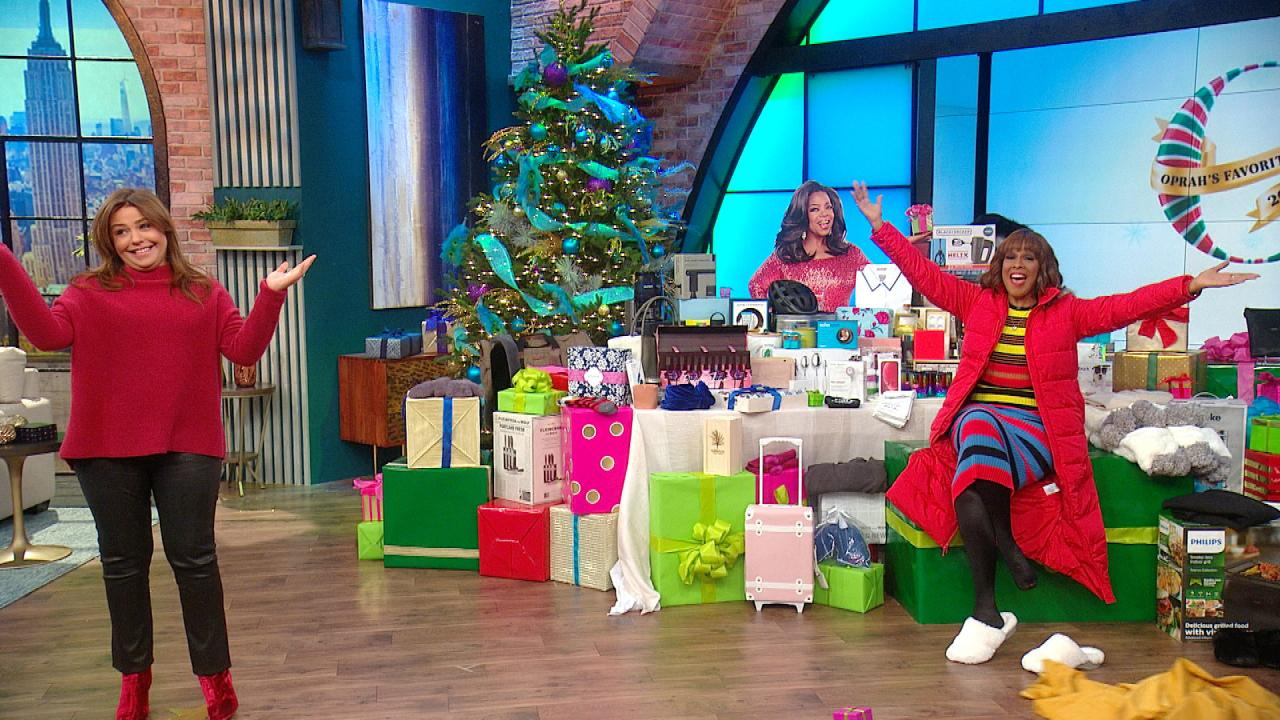gayle king and adam glassman present oprah s favorite things 2018 rachael ray show. Black Bedroom Furniture Sets. Home Design Ideas