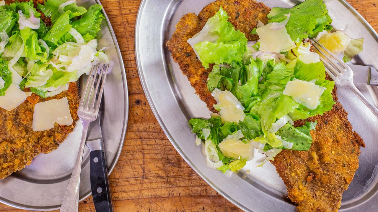 Rachael's Beef Milanese with Everything