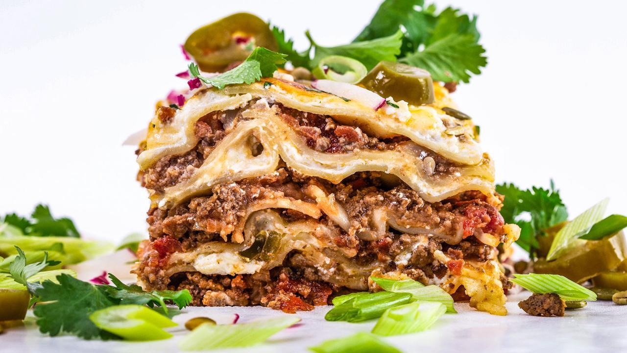 Rachael S Mexican Style Lasagna Rachael Ray Show