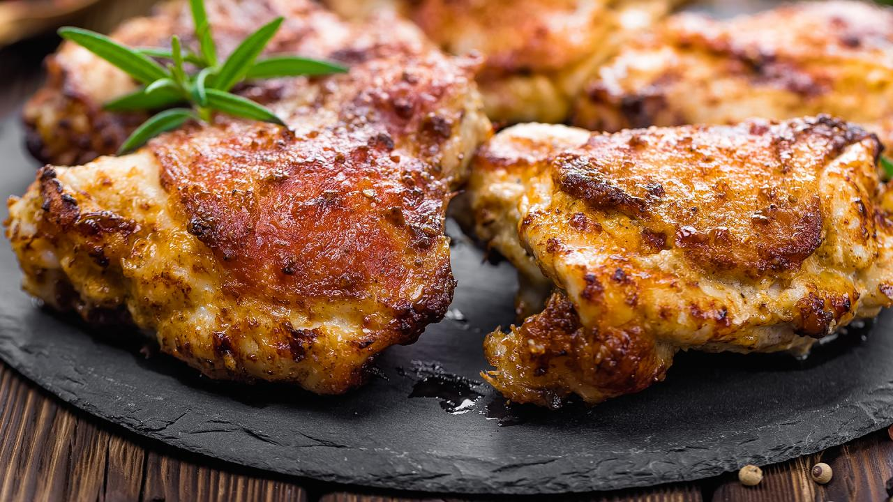 Baked Chicken Thighs