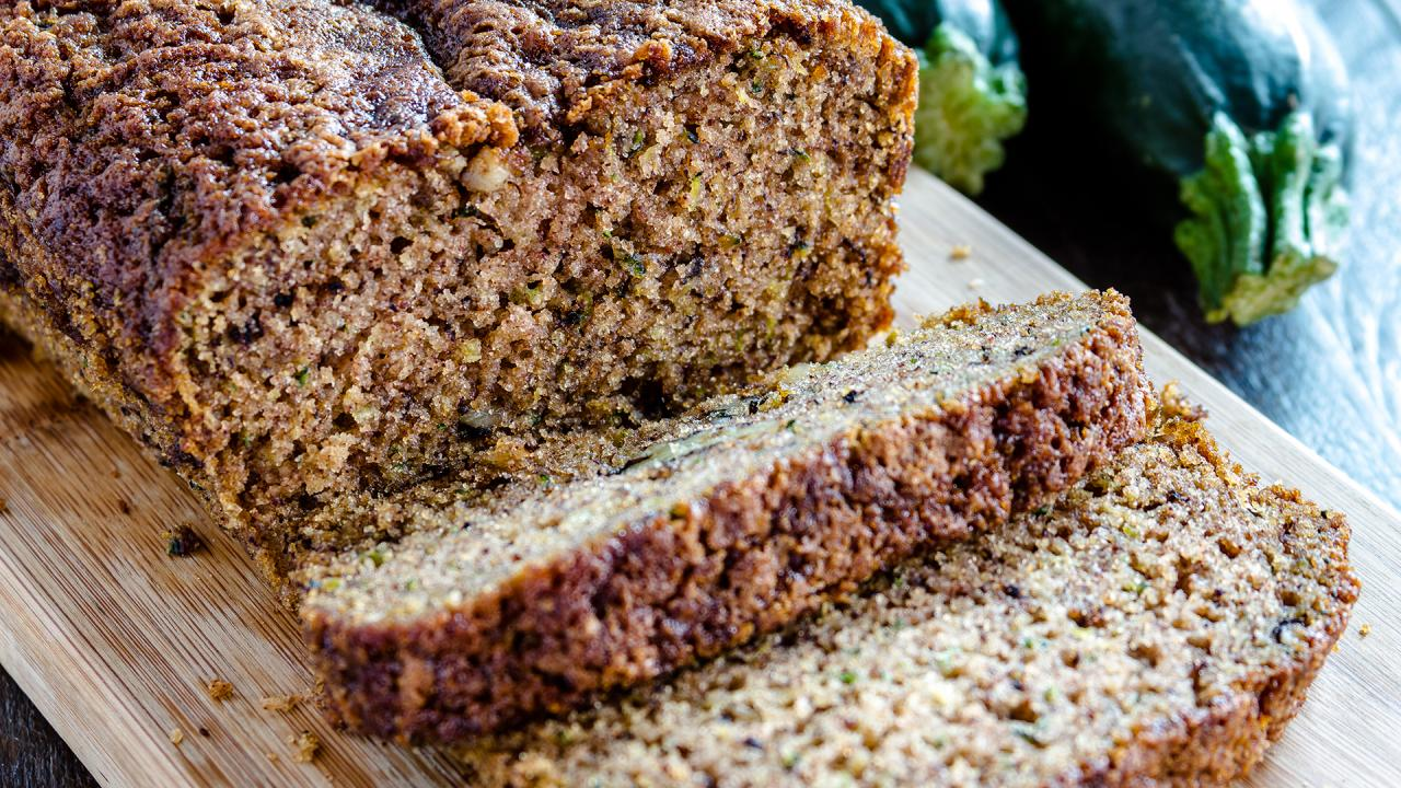 Zucchini Bread With Crunchy Sugar Topping
