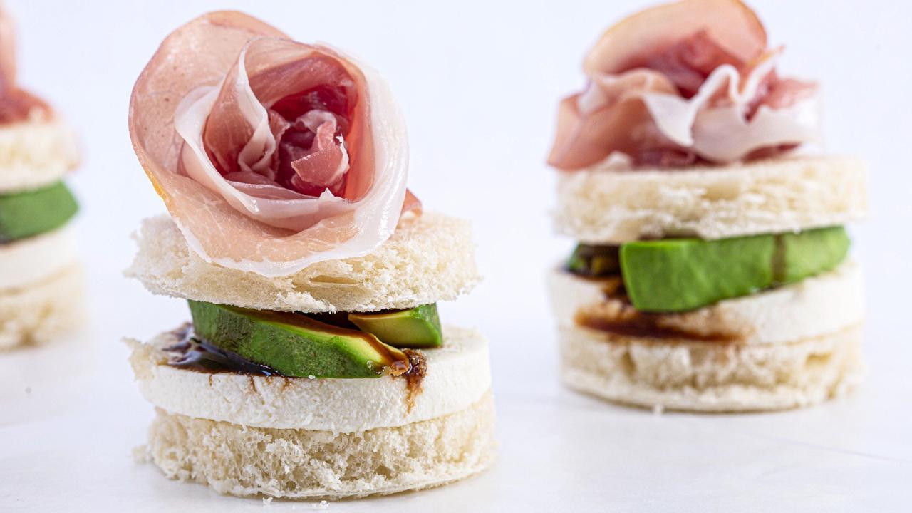 Tea Sandwiches With Prosciutto Flowers Recipe