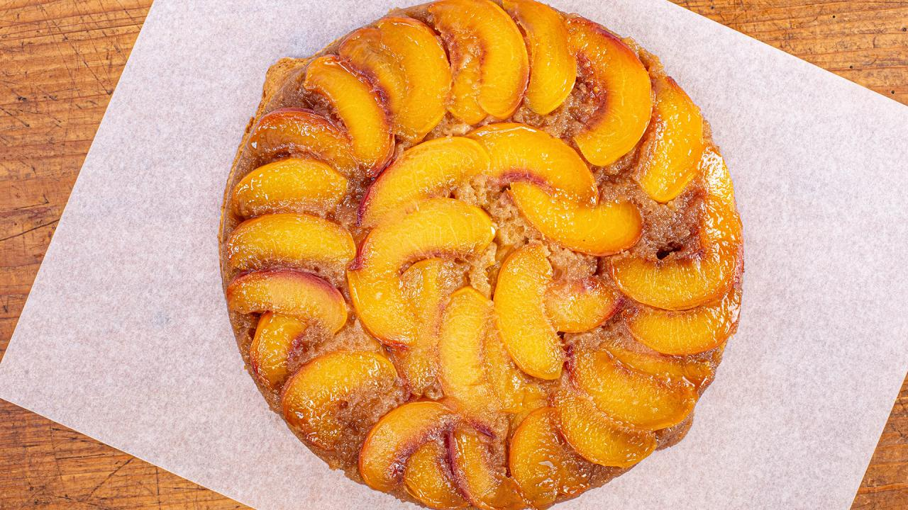 How To Make Peach-Ginger Upside Down Cake By Gail Simmons
