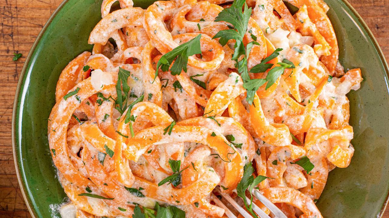 Sweet Potato Noodles Alfredo Recipe