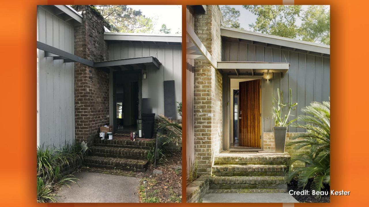 Front Door DIY With Tigerwood Veneer | TLC's Genevieve Gorder