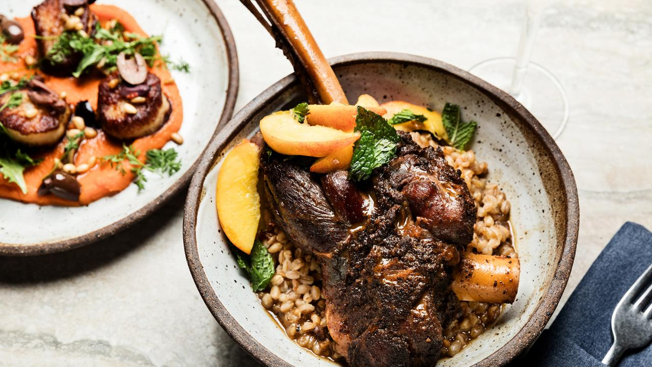 How To Make Wine-Braised Lamb Shanks with Farro By Christopher Crary