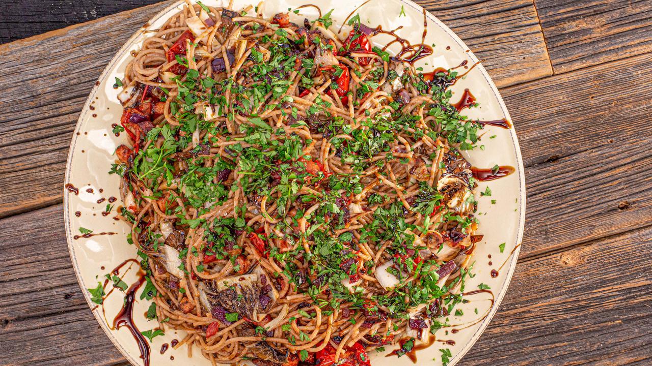 Bacon, Radicchio and Semi-Dried Tomato Pasta Recipe