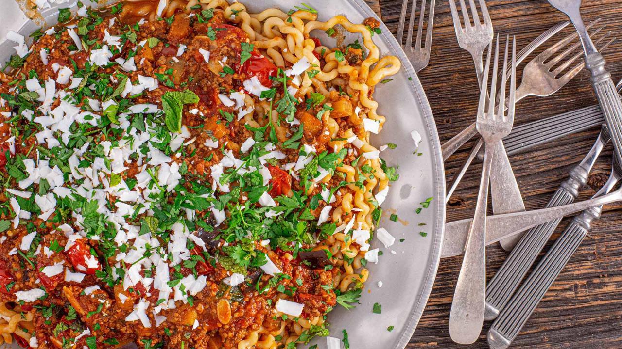 Pasta alla Norma with Lamb Recipe