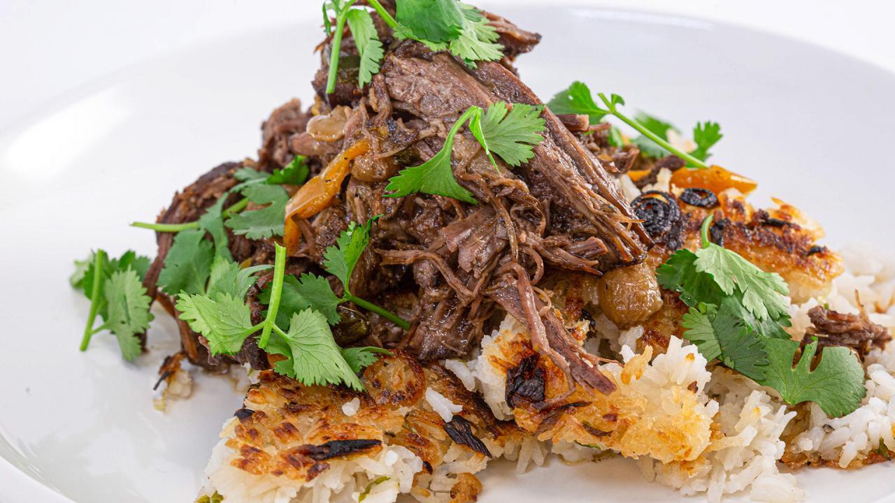 Pressure Cooker Ropa Vieja Shredded Beef Recipe