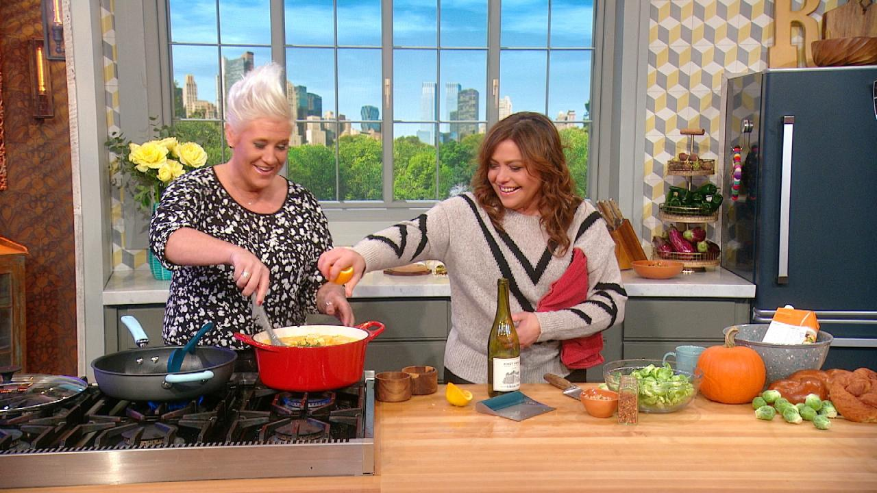 How To Make Pumpkin Soup With Allspice Whipped Cream & Fried Leeks By Chef Anne Burrell