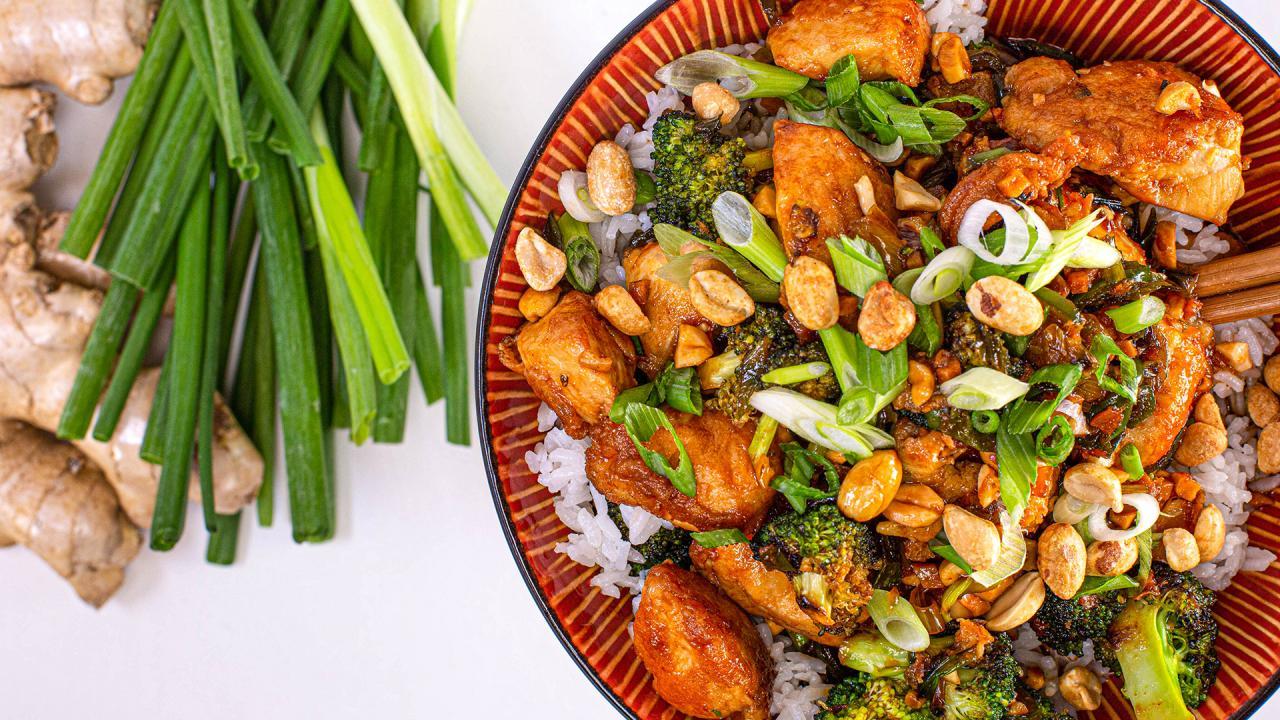 Orange Chicken and Broccoli Recipe