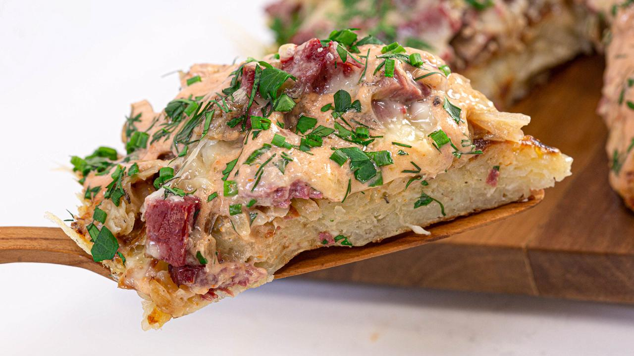 Rach's Reuben Potato Pancake Is Perfect For St. Patty's Day
