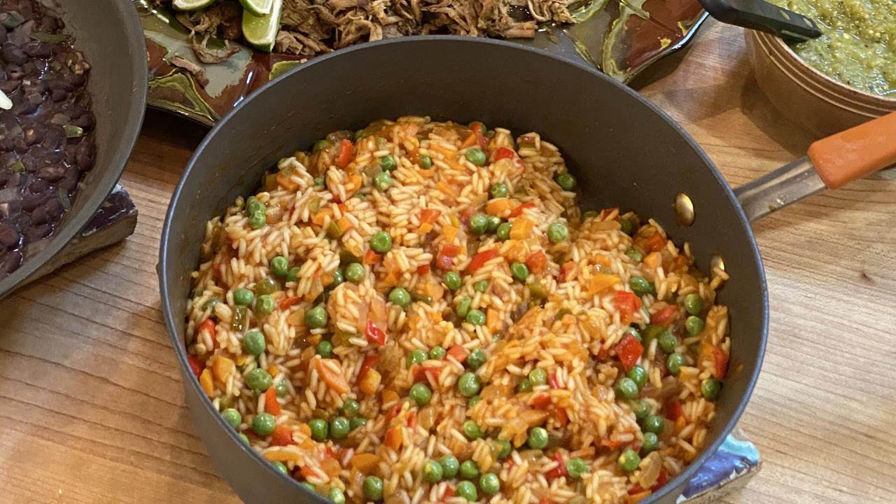 How To Make Mexican-Style Red Rice | Taco Night | Rachael Ray