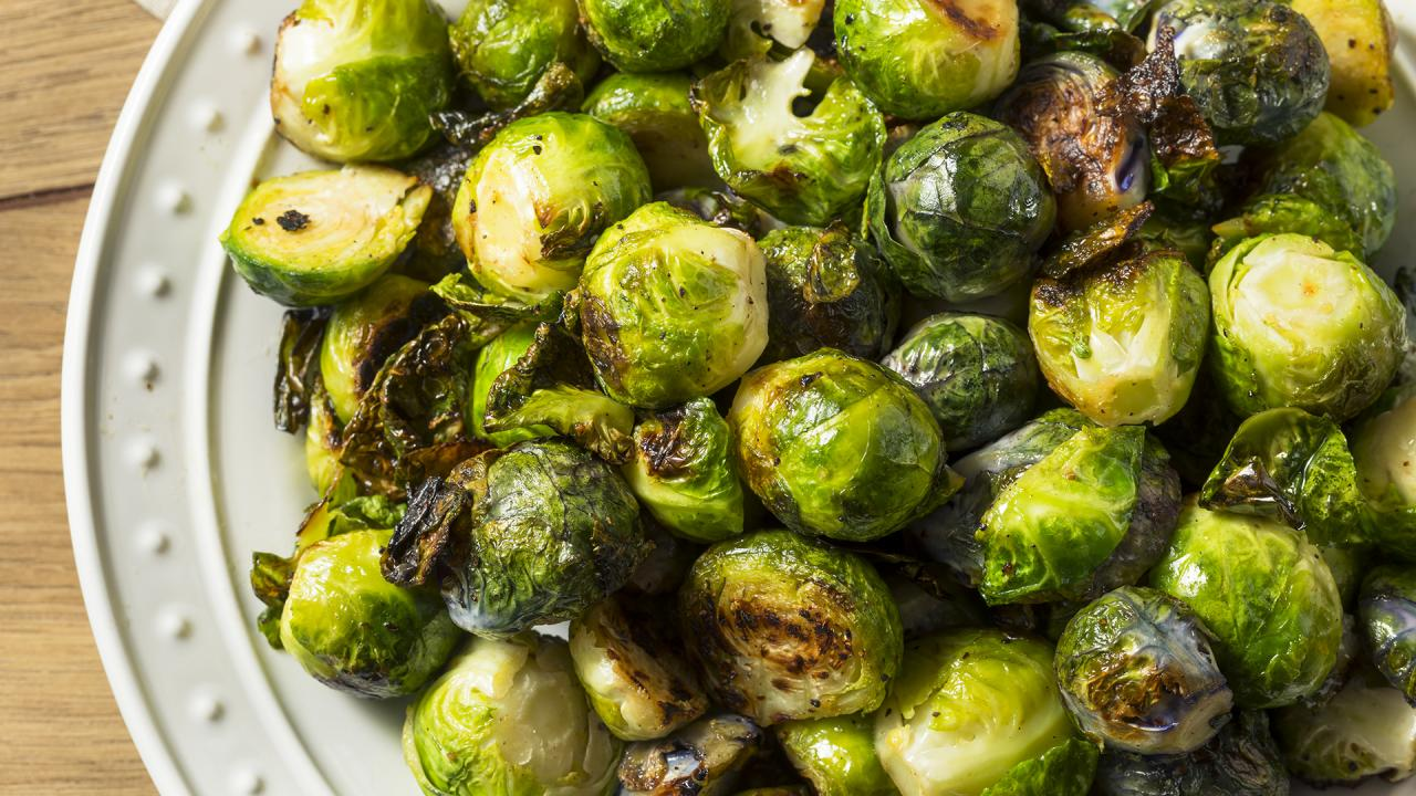 Upgraded Tday Side: Brussels Sprouts With Mustard Vinaigrette