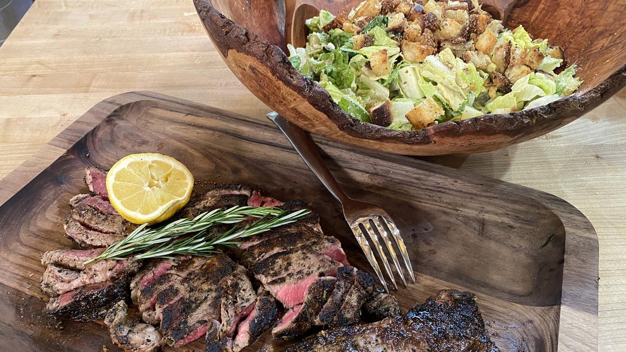 """30 Minute Meal Throwback: Rach's """"Beef Brutus"""" Steak Caesar Salad"""