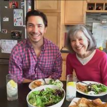 justin long and mom