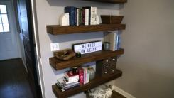 Bookshelf in home