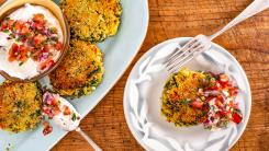 Cauliflower, Spinach + Chickpea Patties