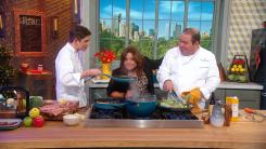 Rachael Ray, Emeril Lagasse and EJ Lagasse