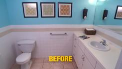 Bathroom Makeover Before Photo