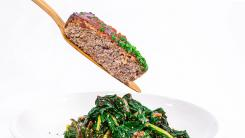 Skillet Meatloaf With Korean Ketchup & Rainbow Chard Salad