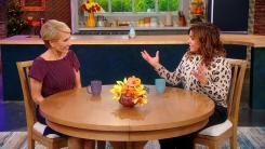 Barbara Corcoran and Rachael Ray at the Rachael Ray Show studio