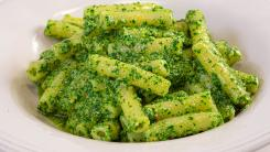 Ziti with Arugula Pesto and Parmigiano-Reggiano