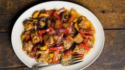 sweet peppers and pork