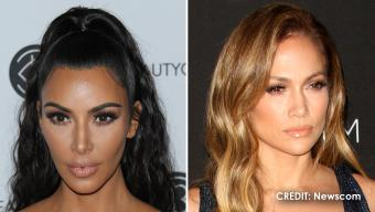 Kim Kardashian and Jennifer Lopez